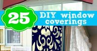 25 DIY window coverings from Remodelaholic.com #windows #curtains #shades