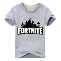 Children Summer Clothes Boy Short Sleeve T-shirt Girls T Shirts Clothing For Kids 3D Fortnite Print Tee Tops Baby Costume DX023 $13.78