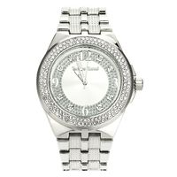 Men's platinum plated iced out hip hop Bling Watch w22 £32.95