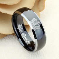 8mm Tungsten Wedding Band Crown Ring Inspiration Ring Personalized Ring Inspirational Jewelry Tungsten Promise Ring Free Inside Engraving $94.00