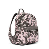 MCM Small Stark Munich Lion Camo Backpack In Pink