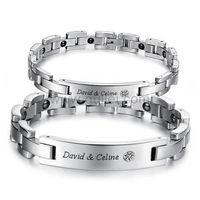 Personalized Custom Couple Magnetic Bracelets Set for 2 by Gullei.com