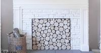 DIY Faux Fireplace - Blesser House featured on
