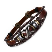 Gullei.com Leather Braided Rope Wrap Bracelet Gift for Guys
