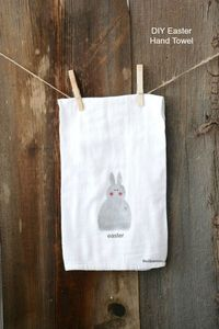 Learn how to make this simple DIY Easter Hand Towel with these step-by-step instructions. Use Freezer Paper to create a stencil. Great Easter Decor!