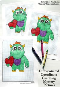 Differentiated Valentine Coordinate Graphing Mystery Pictures. My students LOVE these! The differentiation makes them so easy to use in the classroom! By Kristine Nannini