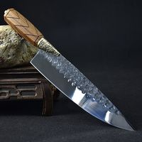 Chef Knife Hammered Blade Home Cooking KitchenTool $147.50