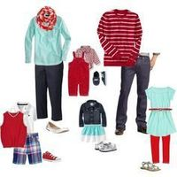 what to wear family picture ideas red turquoise coral - Google Search