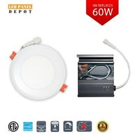LED Panel Depot Eco 4-inch 9-Watt Recessed Round LED Slim Panel with integrated colour select 3000k 4000k or 5000k