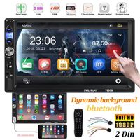7 Inch 2 DIN Dynamic Background Car Radio Stereo MP5 Player USB AUX In-Dash FM HD bluetooth
