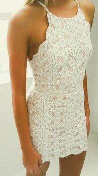 Perfect scalloped lace dress