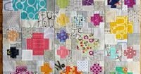apotospitimou: (via FairyFace Designs: Rainbow crosses {Instagram mini quilt swap})