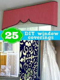 25 DIY window coverings from Remodelaholic.com