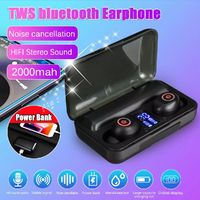 F9-3 TWS bluetooth Bilateral Stereo Noise Reduction IPX5 Waterproof Earphone Headphones with Charging Case