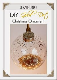 Make this gorgeous handmade Holiday Ornament in 5 Minutes! DIY Gold Bead Christmas Ornament to decorate your tree or use as a present topper.