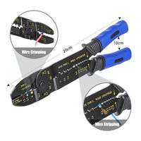 1 Box Wire Connector Terminal with Cable Stripper Hand Tool Crimper Plier Tools Kit