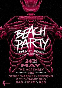 Beach Party 'Ribs or Death' Launch Poster by Ian Jepson