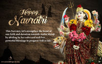 Navratri is a nine nights' festival of devotion and bhakti, celebrated with a lot of fervour and faith, towards the great Goddess Amba Ma!