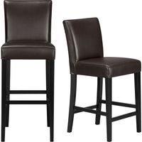 The style is classic Parsons. The colors are both fashion-forward and classic. The look is bold and modern in soft pebbled bicast leather with double saddle-stitching. Crafted of solid birch with legs stained a rich ebony.