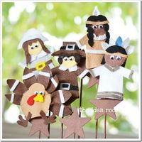 pilgrim and indian crafts for preschoolers | ... com/2011/11/21/pilgrim-and-indian-puppets-thanksgiving-craft-activity