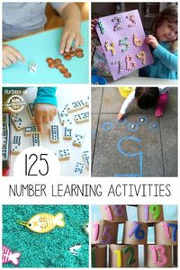 Today we have a lot of activities for kids learning numbers. We love to make learning fun!