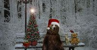 imagine - furry animals and holly jolly christmas