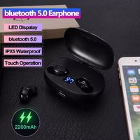 Dual Digital Display True Wireless Headset Button Touch bluetooth 5.0 Earphone with Portable Charging Box
