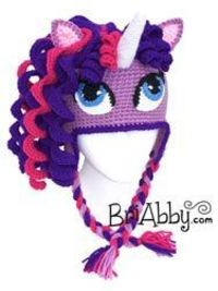 Crochet pony / unicorn hat. If your daughter loves ponies or unicorns, she is going to NEED this hat. You can purchase the hat now at www.briabby.com. The pattern can be purchased at www.briabby.com/patterns.html. Like us on facebook to see our new patter...