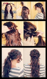 DIY Boho Chic Ponytail Hairstyle DIY Fashion Tips | DIY Fashion Projects