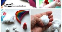 Absolutely adorable rainbow and raindrops mobile.