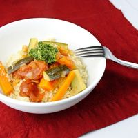 Vegetable Couscous with Moroccan Pesto Recipe