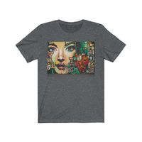 Face and Abstract Art, Unisex Jersey, Cotton T- Shirt $19.00