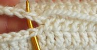 To whip stitch, I brought the needle under both strands of the edge stitches. Instead of turning the needle around to come back the other way, I pushed my needle through in the same direction for every stitch. �œ�Teresa Restegui http://www.pinterest....