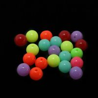 CLEARANCE Pack of 50 Round Acrylic GumBall Beads. Different Colours Available. 10mm Plastic Spacers £6.89