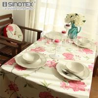 1PCS Pure Cotton Floral Plaid Printed Table Cloth Rectangular Wedding Dinning Outdoor Party Table Cover New Year Decoration GHS125.94