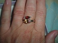 Pear shape citrine and garnet ring 50% off today, 12/10, only