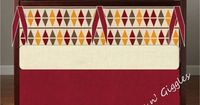 Harry Potter Gryffindor Baby Crib Bedding by LittleBurpsnGiggles, $239.00