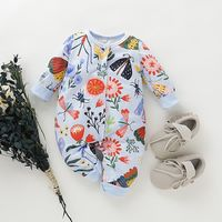 Baby Floral Allover Long-sleeve Jumpsuit $13