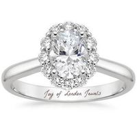 A Perfect Vintage Style 1.8CT Oval Cut Halo Russian Lab Diamond Engagement Ring $143.00