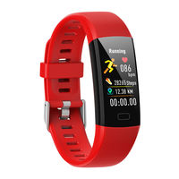 Bakeey Y10 Heart Rate Blood Pressure O2 Monitor 1.14inch New UI Display Multi-sport Modes Colorful Band Smart Watch