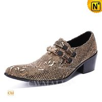 Men Leather Shoes | CWMALLS® Miami Embossed Leather Shoes CW708215 [Global Free Shipping]