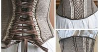 DIY Knit Corset Pattern by Nikol Lohr from the Book Vampire...
