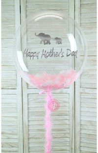 Pink Mother's Day Feather Bubble