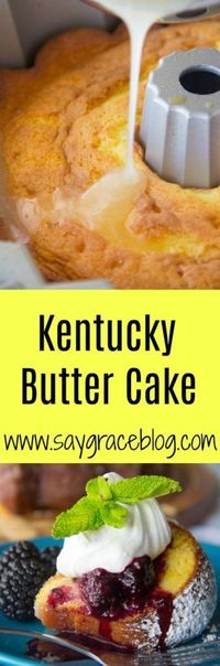 This southern rich Kentucky Butter Cake is is drenched with a sweetened butter sauce and quite frankly very hard to resist.
