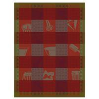 Chef Pâtissier Mosaique Raspberry Bush Tea Towels $100.00