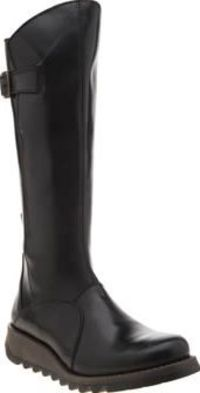 Fly London Black Mol 2 Womens Boots The Fly London Mol 2 arrives to keep up with your busy lifestyle. This versatile calf-length boot features a black leather upper with bronze buckle detailing for a touch of interest. A zip fastening p http://www.compare...