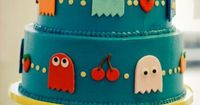 Pac-Man cake. It's not a recipe, but it is here to serve as inspiration for how to decorate your cakes! Love this!