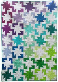 Sparkler quilt - a modified rail fence.