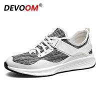 Casual Shoes Men 2017 Spring Autumn Lace up Korean Style Breathable Mesh Top Fashion Flat Patchwork Fabric Sneakers Male Canvas $34.91