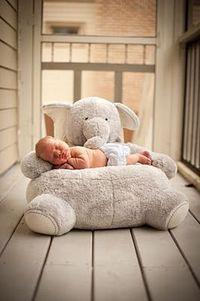 We have this elephant. Patrick loves him. Nice and comfy to sit on. PBK elephant critters chair